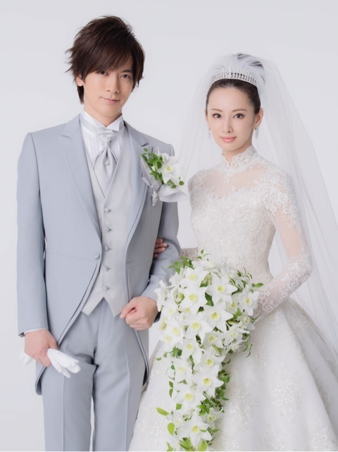 DAIGO 北川景子 結婚式 ウエディングドレス